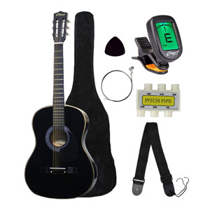 "Crescent MG38-BK 38"" Acoustic Guitar Starter Package"