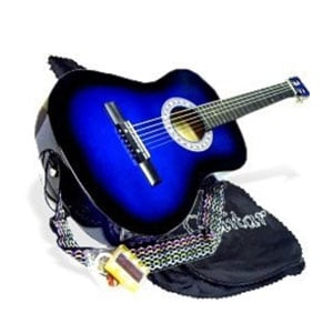 "38"" BLUE Acoustic Guitar Starters Beginner Package"